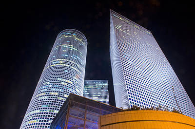 Photograph - Azrieli Towers by Kobby Dagan