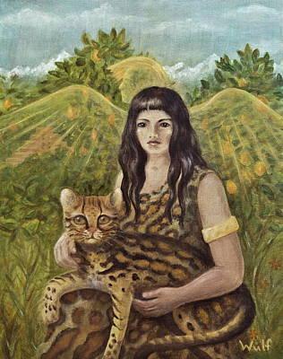 Painting - Aztec Angel by Bernadette Wulf