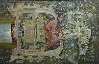 Painting - Aztec Astronaut by Valentina Kondrashova