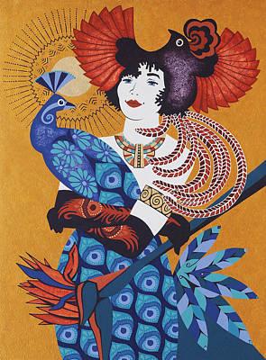 Aztec Bird Goddess Original by Susan Lishman