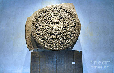 Photograph - Aztec Calendar Stone by Andrew Dinh