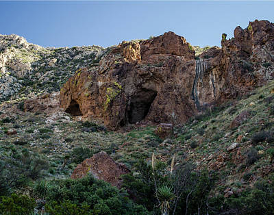 Photograph - Aztec Caves  by Allen Sheffield