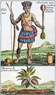 Photograph - Aztec: Chocolate, 1685 by Granger