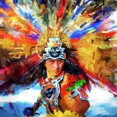 Digital Art - Aztec Dancer by Gary Grayson