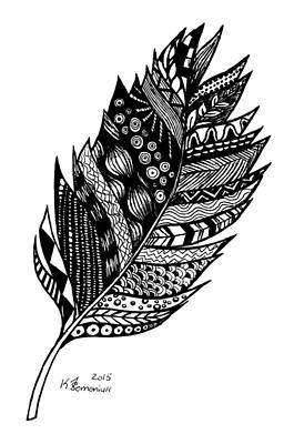 Drawing - Aztec Feather by Kayleigh Semeniuk