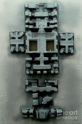 Mixed Media - Aztec Frankenstein by Brenda Kato