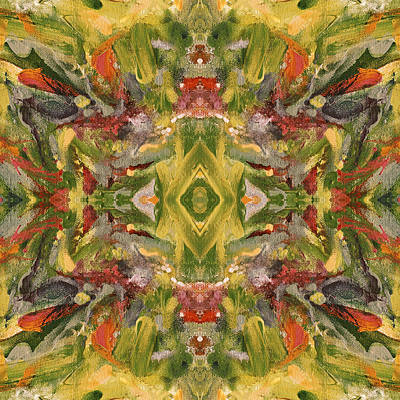Mexican Tapestry Digital Art - Aztec Kaleidoscope - Pattern 001 - Desert by Julie Turner