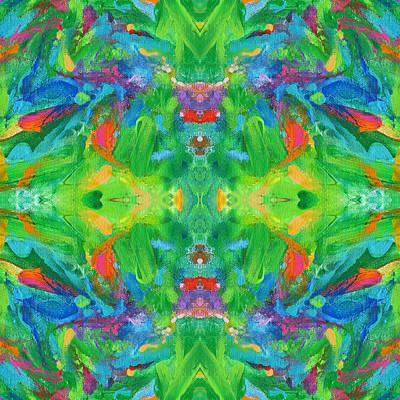 Mexican Tapestry Digital Art - Aztec Kaleidoscope - Pattern 002 by Julie Turner