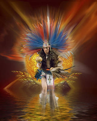 Photograph - Aztec Native Dancer by Gordon Engebretson