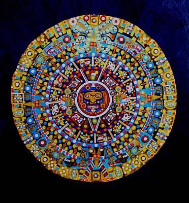 Mixed Media - Aztec Neon by Bob Craig