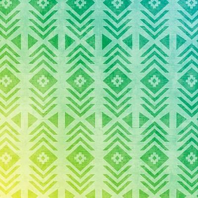 Pastel - Aztec Pattern 01 by Aloke Creative Store