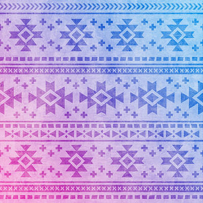 Pastel - Aztec Pattern 04 by Aloke Creative Store