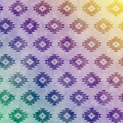 Pastel - Aztec Pattern 06 by Aloke Creative Store