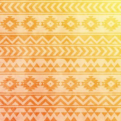 Pastel - Aztec Pattern 08 by Aloke Creative Store