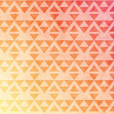 Pastel - Aztec Pattern 11 by Aloke Creative Store