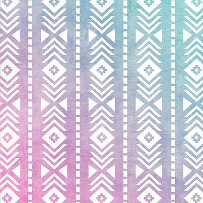 Pastel - Aztec Pattern 12 by Aloke Creative Store