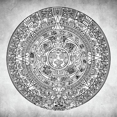 Aztec Sun Art Print by Taylan Apukovska
