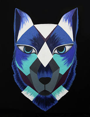 Animals Painting - Aztec Wolf by Allison Liffman