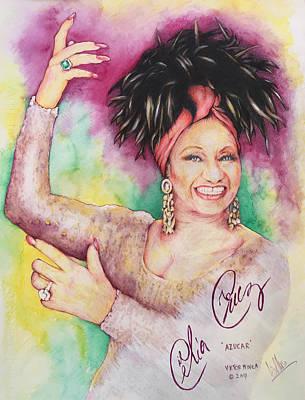 Painting - Azucar Celia Cruz by Victor Minca