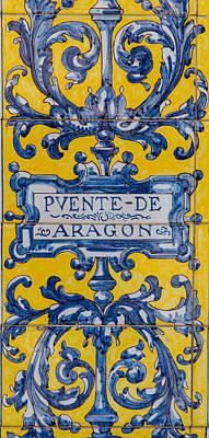 Photograph - Azulejo - Floral Decoration 2 by Andrea Mazzocchetti