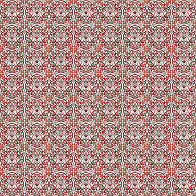 Digital Art - Azulejo Floral Pattern - 06 by Andrea Mazzocchetti