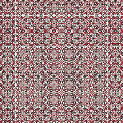 Digital Art - Azulejo Floral Pattern - 07 by Andrea Mazzocchetti