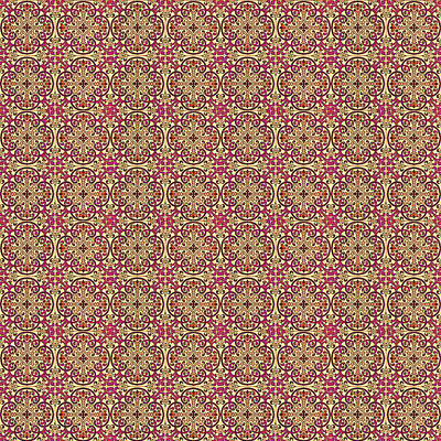 Digital Art - Azulejo Floral Pattern - 08 by Andrea Mazzocchetti