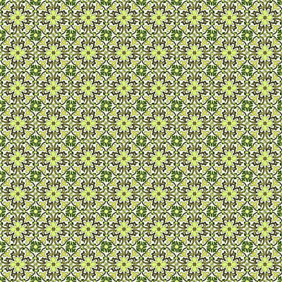 Digital Art - Azulejo Floral Pattern - 18 by Andrea Mazzocchetti