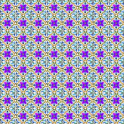 Photograph - Azulejo Floral Pattern - 24 by Andrea Mazzocchetti