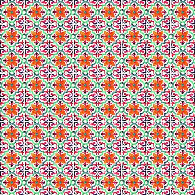 Photograph - Azulejo Floral Pattern - 27 by Andrea Mazzocchetti