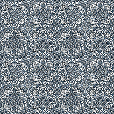 Digital Art - Azulejo Floral Pattern - 32 by Andrea Mazzocchetti