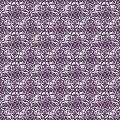 Digital Art - Azulejo Floral Pattern - 34 by Andrea Mazzocchetti