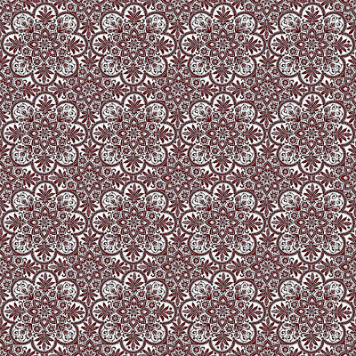 Digital Art - Azulejo Floral Pattern - 35 by Andrea Mazzocchetti