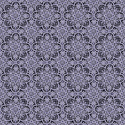 Digital Art - Azulejo Floral Pattern - 38  by Andrea Mazzocchetti