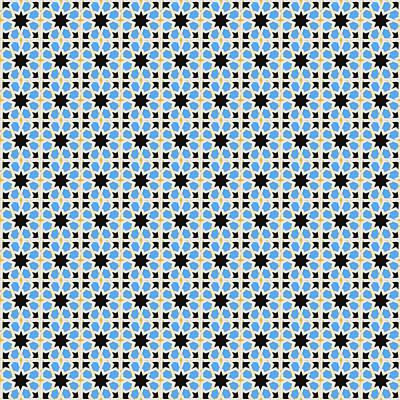 Photograph - Azulejo, Geometric Pattern - 01 by Andrea Mazzocchetti