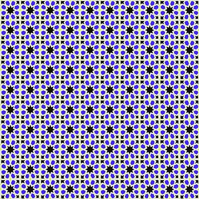Photograph - Azulejo, Geometric Pattern - 02 by Andrea Mazzocchetti