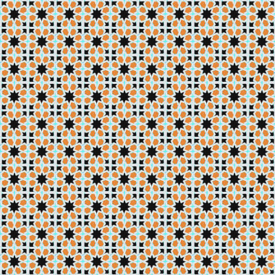 Photograph - Azulejo, Geometric Pattern - 03 by Andrea Mazzocchetti