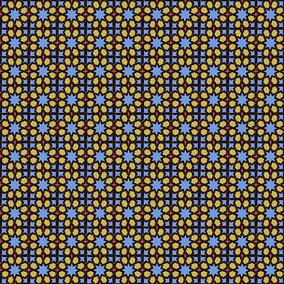Mixed Media - Azulejo, Geometric Pattern - 06 by Andrea Mazzocchetti