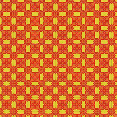 Painting - Azulejo, Geometric Pattern - 11 by Andrea Mazzocchetti
