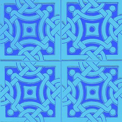 Mixed Media - Azulejo, Geometric Pattern - 14 by Andrea Mazzocchetti