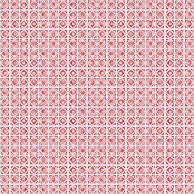 Digital Art - Azulejo, Geometric Pattern - 20 by Andrea Mazzocchetti