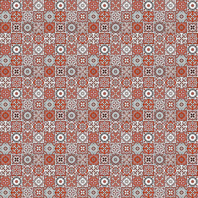 Digital Art - Azulejo, Geometric Pattern - 22 by Andrea Mazzocchetti