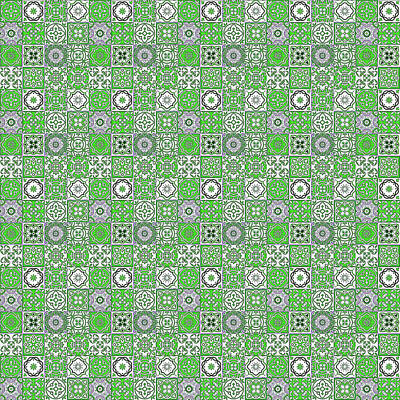 Digital Art - Azulejo, Geometric Pattern - 23 by Andrea Mazzocchetti
