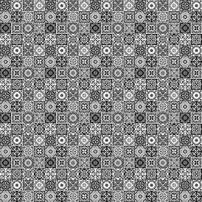Digital Art - Azulejo, Geometric Pattern - 24 by Andrea Mazzocchetti