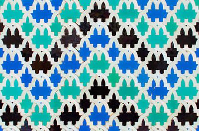 Photograph - Azulejo - Geometrical Decoration  2 by Andrea Mazzocchetti