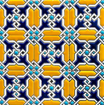 Photograph - Azulejo - Geometrical Decoration  5 by Andrea Mazzocchetti
