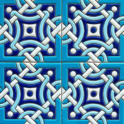 Photograph - Azulejo - Geometrical Decoration  6 by Andrea Mazzocchetti