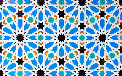Photograph - Azulejo - Geometrical Decoration  by Andrea Mazzocchetti