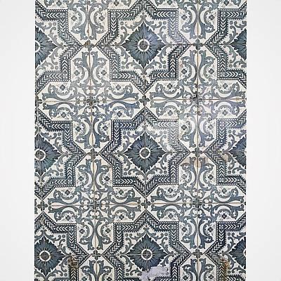 Ceramics Photograph - Azulejos Ceramics Closeup View On A by Adriano La Naia