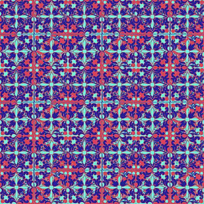 Mixed Media - Azulejos Magic Pattern - 07 by Andrea Mazzocchetti